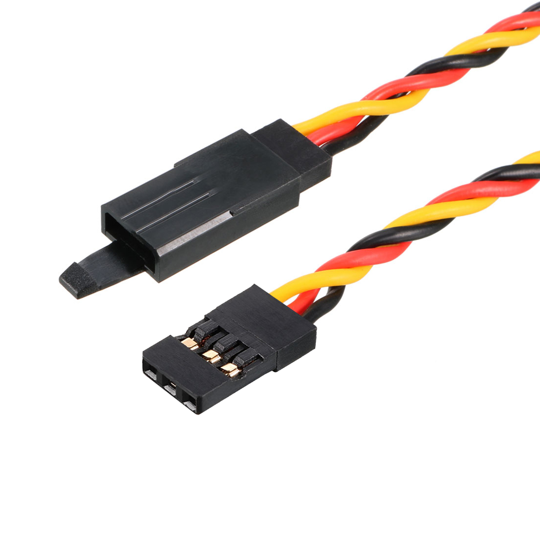 35 Inches 900mm 3-pin Servo Extension Cable Anti-interference for RC Futaba Lock