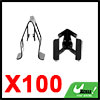 100pcs Universal Black Car Console Dash Dashboard Fastener Metal Retainer Clips