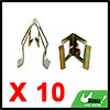 10pcs Bronze Tone Car Console Instrument Panel Dash Trim Metal Retainer Clips