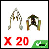 20pcs Bronze Tone Car Console Instrument Panel Dash Trim Metal Retainer Clips