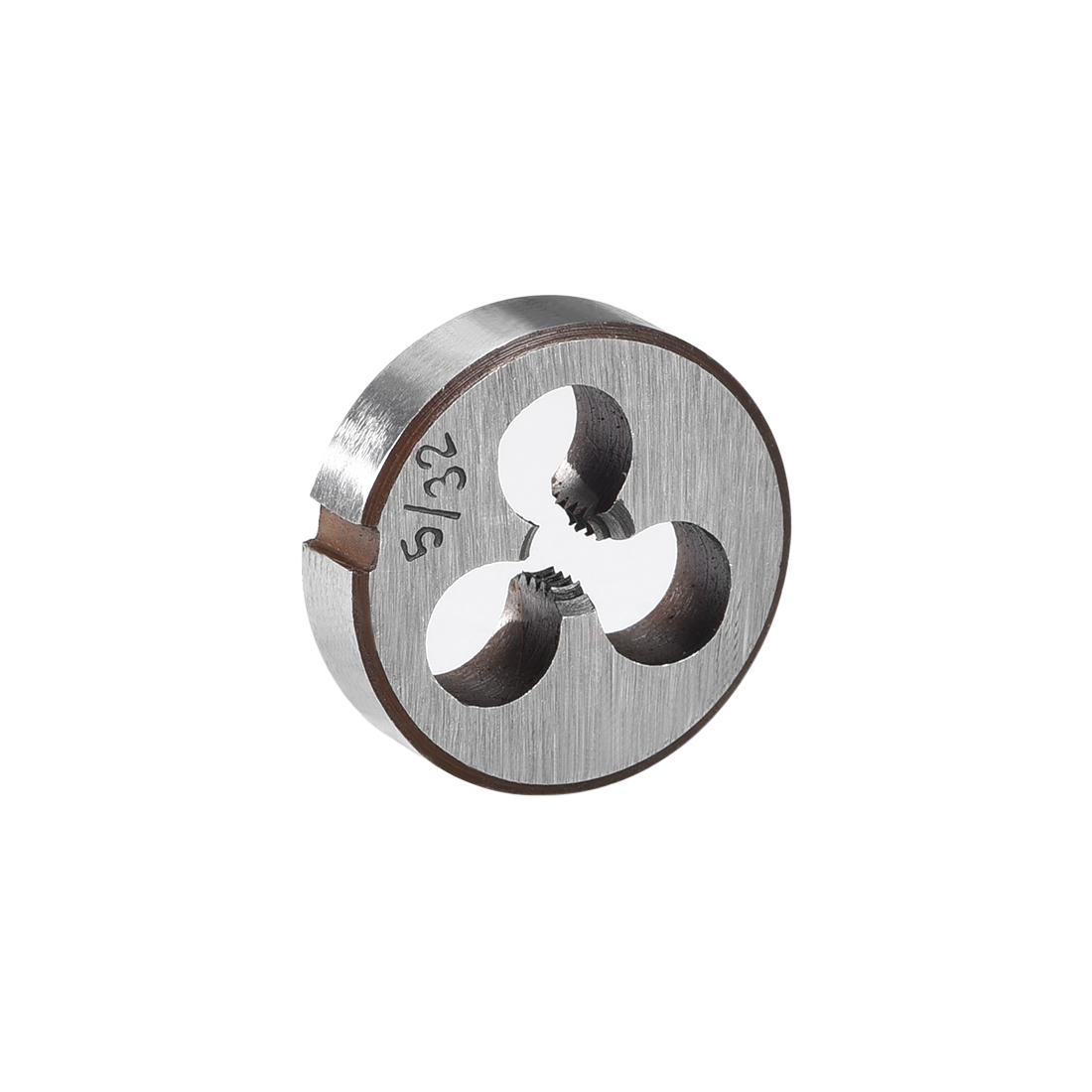 """5/32-32 BSW Round Die Machine Thread Threading Die 0.8"""" OD Alloy Steel"""
