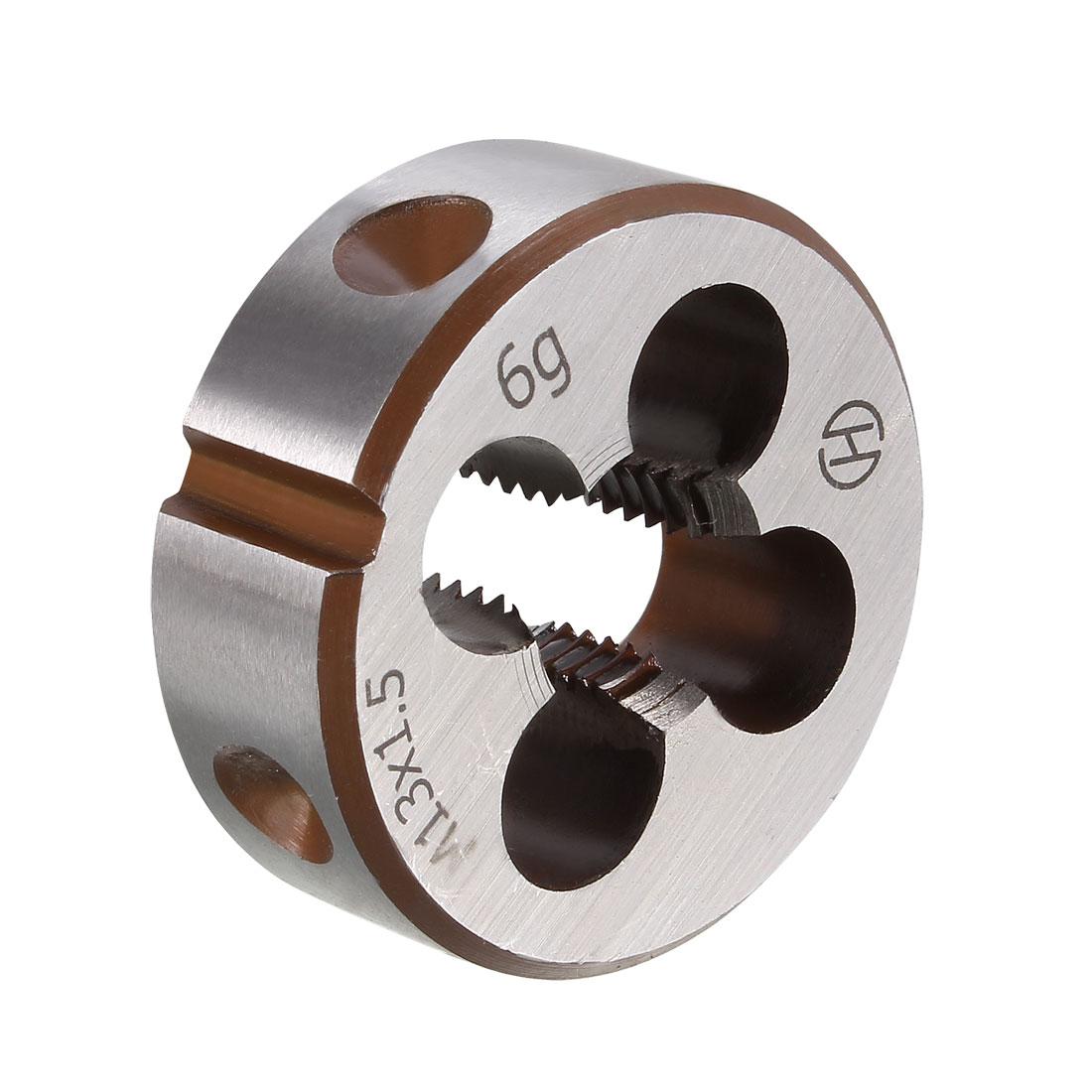 M13 X 1.5 Metric Round Die Machine Thread Threading Die 38mm OD Alloy Steel