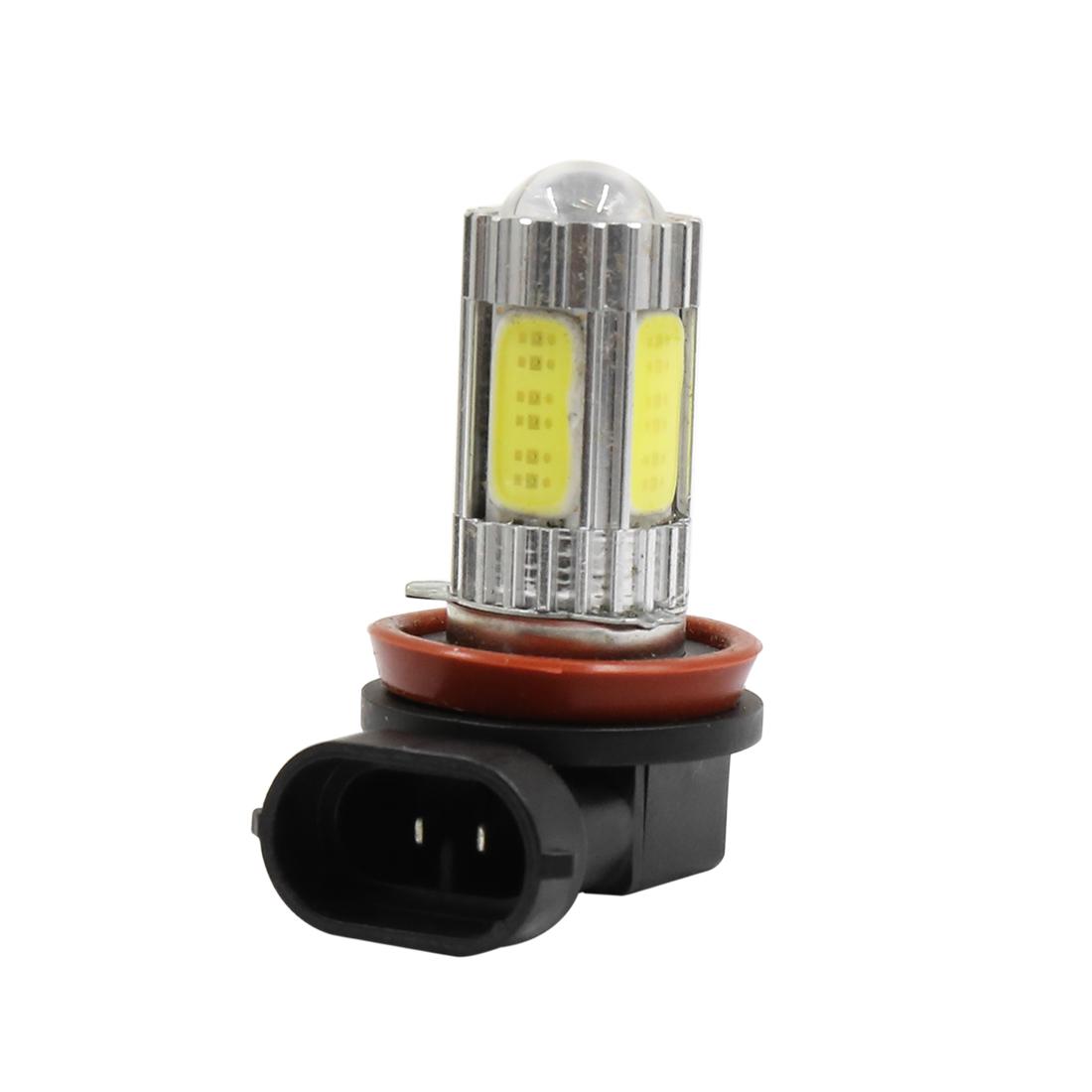 DC 12V 25W H8 White 5 COB LED Foglight Headlight Driving Light Lamp Bulb for Car