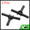Black Plastic Water Hose Connector Tube Pipe Fitting Splitter 67.5 x 42mm 2pcs