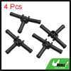 Black Plastic Water Hose Connector Tube Pipe Fitting Splitter 67.5 x 42mm 4pcs