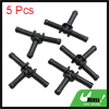 Black Plastic Water Hose Connector Tube Pipe Fitting Splitter 67.5 x 42mm 5pcs