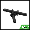 Black Plastic Water Hose Connector Tube Pipe Fitting Splitter 71 x 44mm