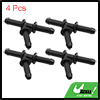 Black Plastic Water Hose Connector Tube Pipe Fitting Splitter 71 x 44mm 4pcs