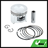 Silver Tone 49.5mm Motorcycle Piston Kit w Pins Rings Clips for DY-100 STD