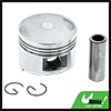 Silver Tone Engine Part 52mm Motorcycle Piston Kit for CH125 STD