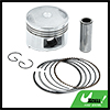 Silver Tone 52mm Motorcycle Piston Kit w Pins Rings Clips for CH125 STD
