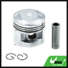 Silver Tone Engine Part 56mm Motorcycle Piston Kit for WY125 STD
