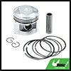 Silver Tone 56mm Motorcycle Piston Kit w Pins Rings Clips for WY125 STD