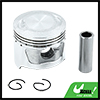 Silver Tone Engine Part 46.5mm Motorcycle Piston Kit for JH70 STD