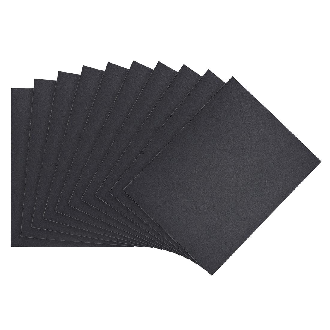 Waterproof Sandpaper, Wet Dry Sand Paper Grit of 220, 11 x 9inch 10pcs