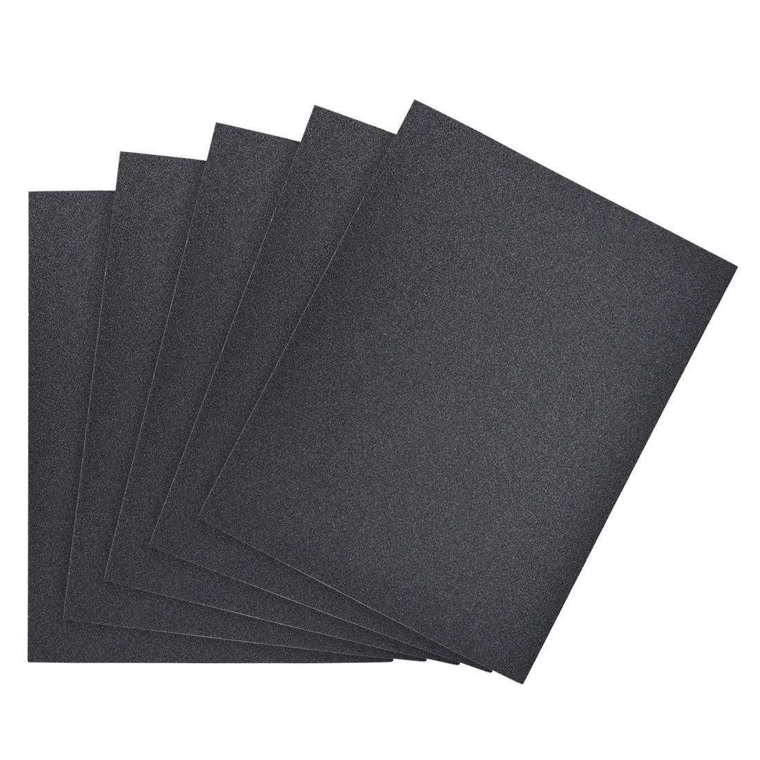 Waterproof Sandpaper, Wet Dry Sand Paper Grit of 120, 11 x 9inch 5pcs