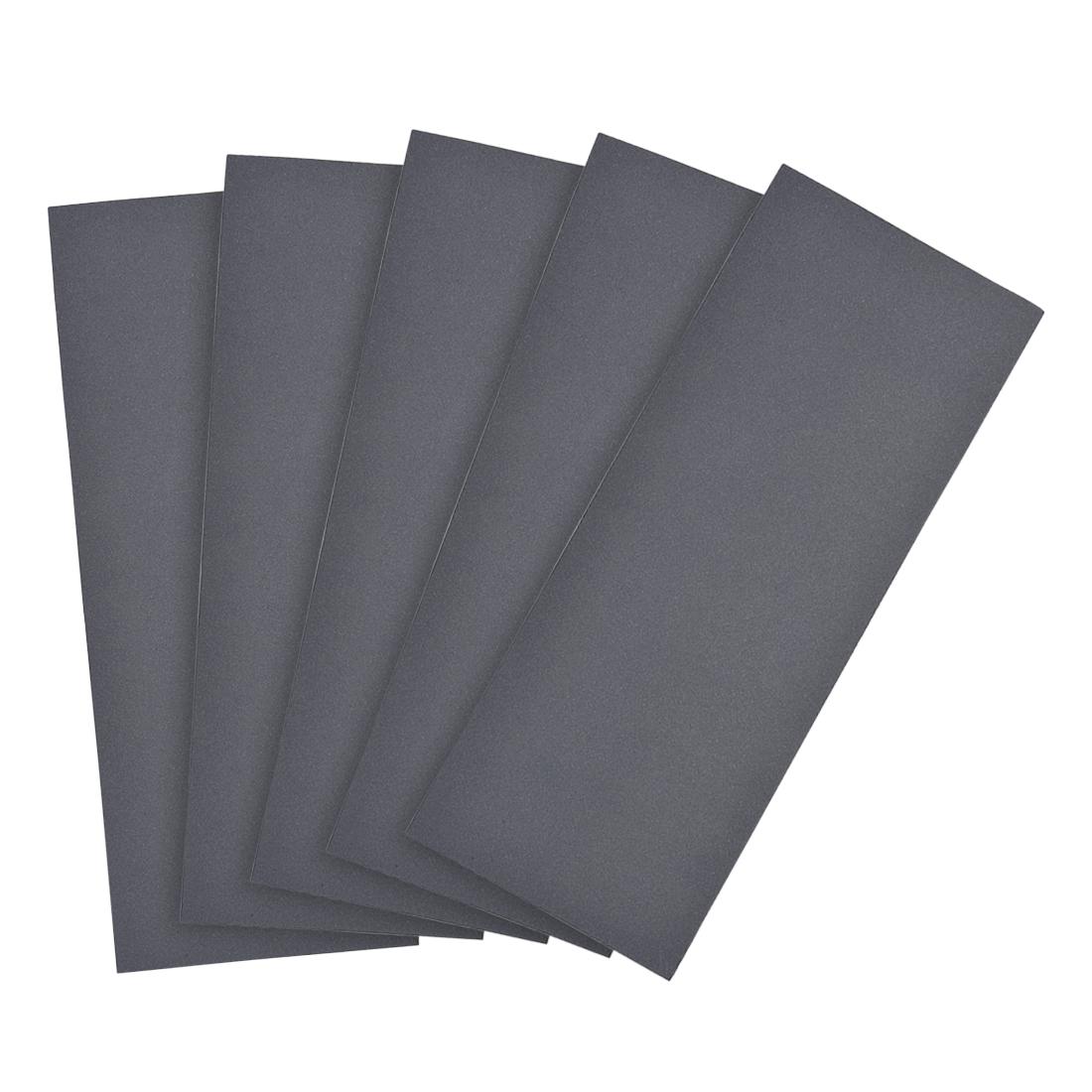 Waterproof Sandpaper, Wet Dry Sand Paper Grit of 800, 9 x 3.7inch 5pcs