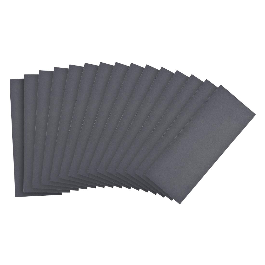 Waterproof Sandpaper, Wet Dry Sand Paper Grit of 800, 9 x 3.7inch 15pcs