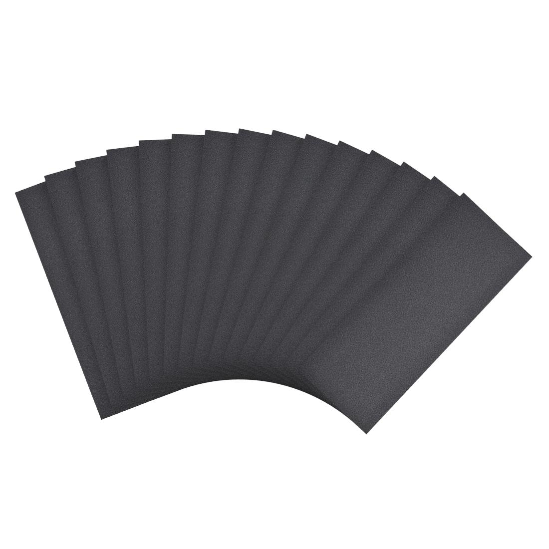 Waterproof Sandpaper, Wet Dry Sand Paper Grit of 320, 9 x 3.7inch 15pcs