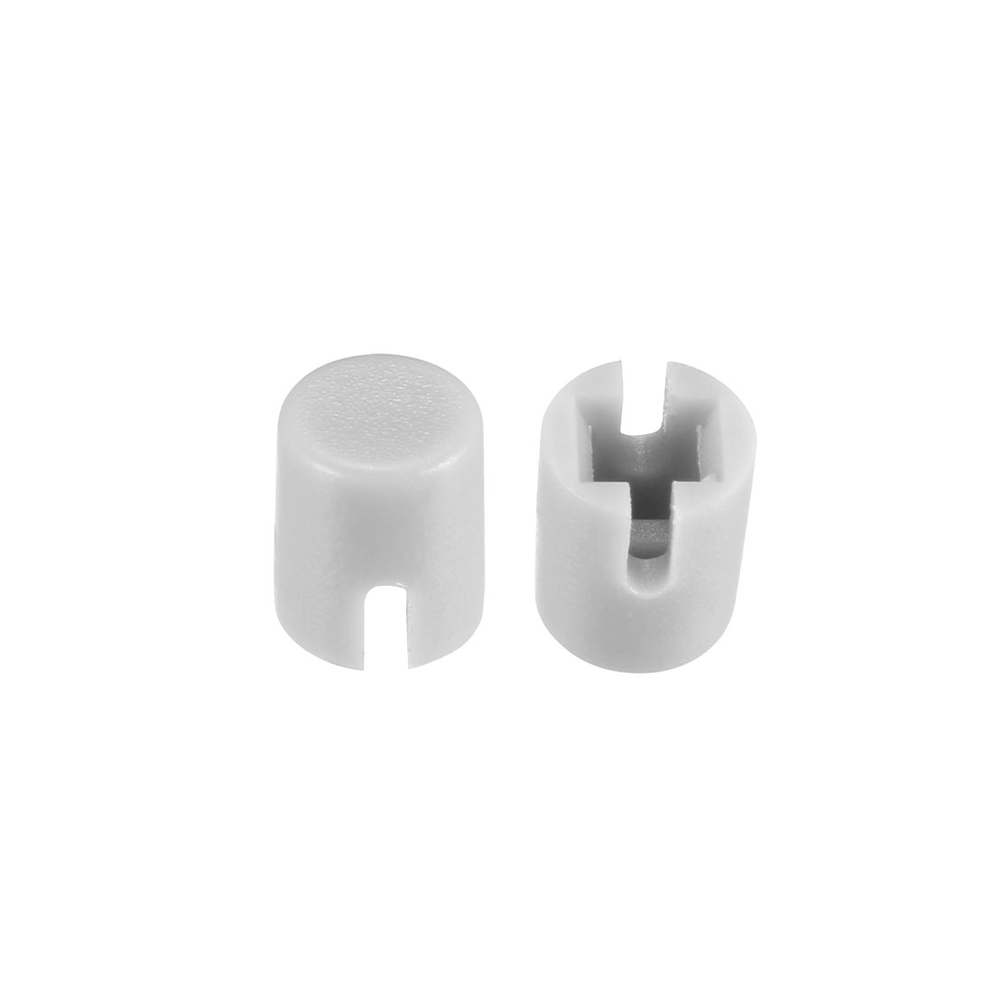 50Pcs 4.6x5.5mm Pushbutton Switch Caps Cover Grey for 6x6x7.3mm Tact Switch