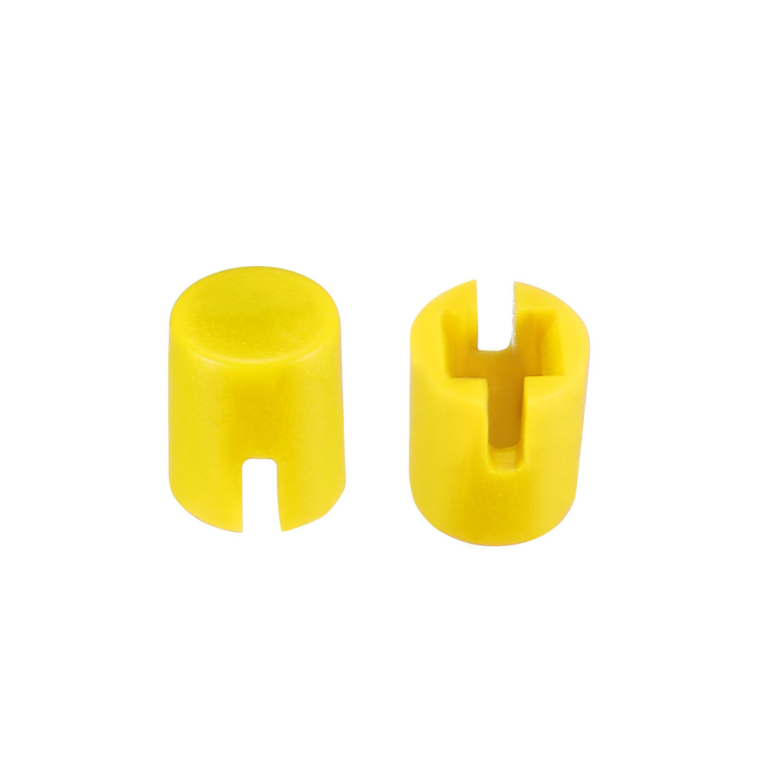 50Pcs 4.6x5.5mm Pushbutton Switch Caps Cover Yellow for 6x6x7.3mm Tact Switch