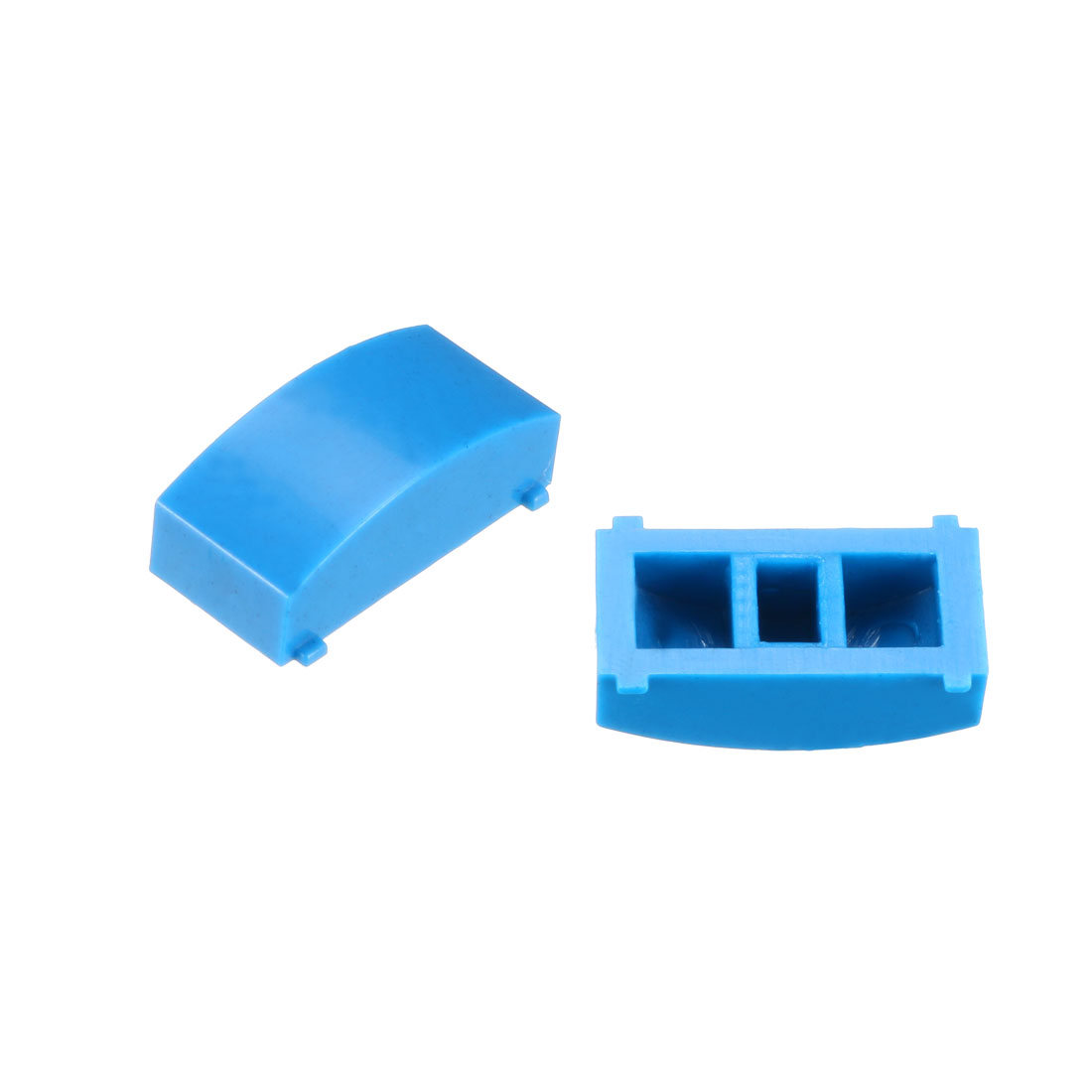 50Pcs 12.4x4.5mm Tact Switch Caps Cover Blue for 8x8 Latching Tactile Switch
