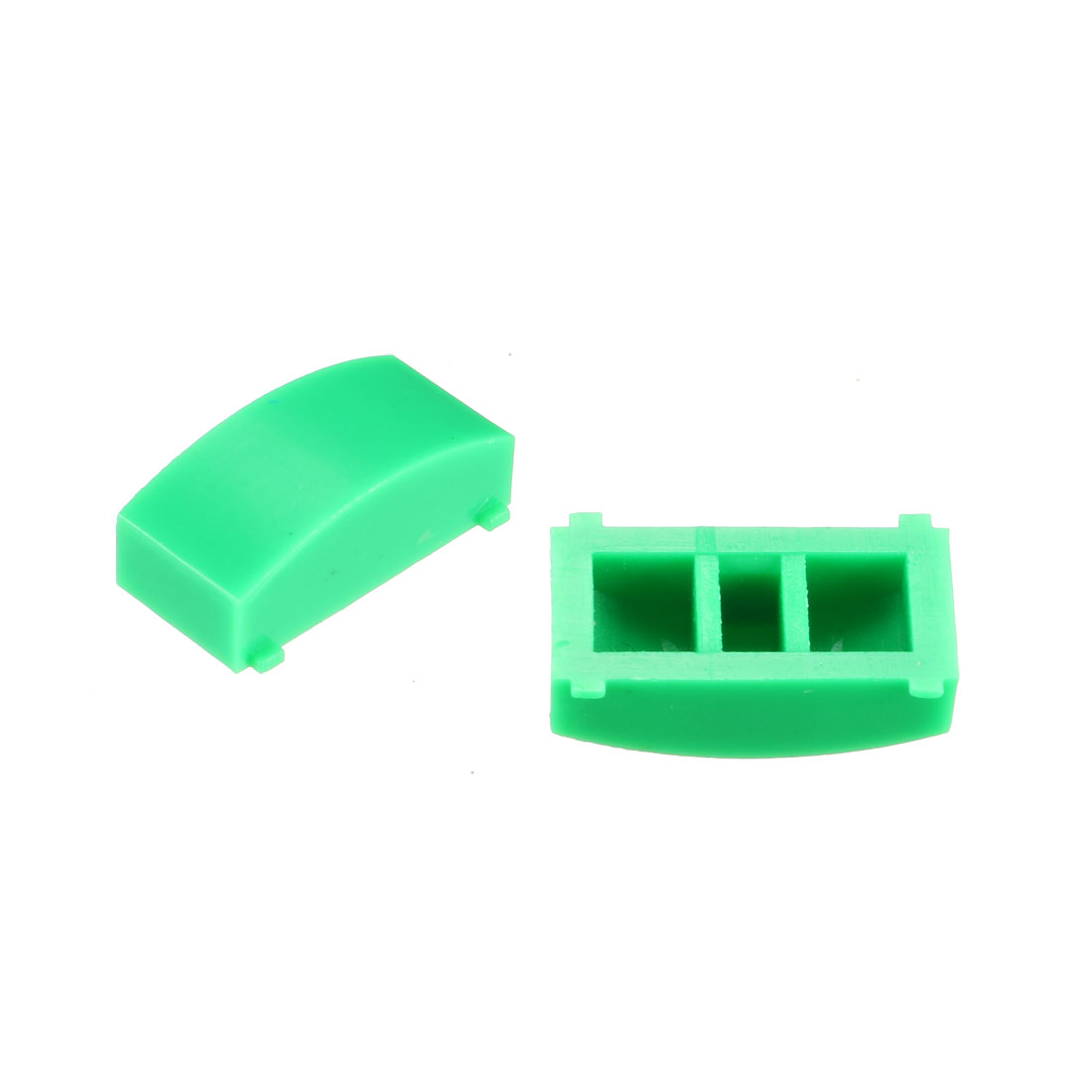 50Pcs 12.4x4.5mm Tact Switch Caps Cover Green for 8x8 Latching Pushbutton Switch