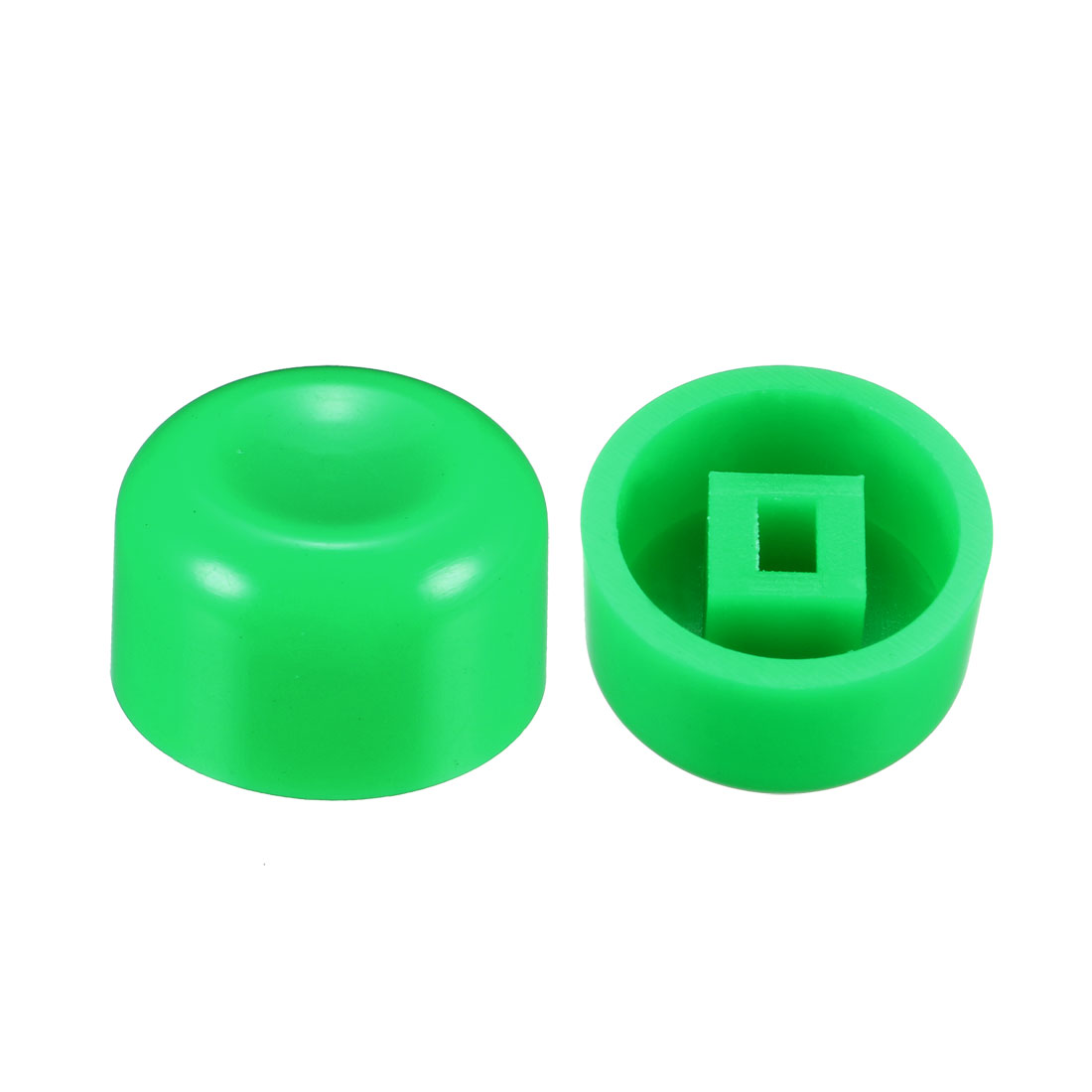 40Pcs Plastic 13.2x7.7mm Latching Pushbutton Tactile Switch Caps Cover Green