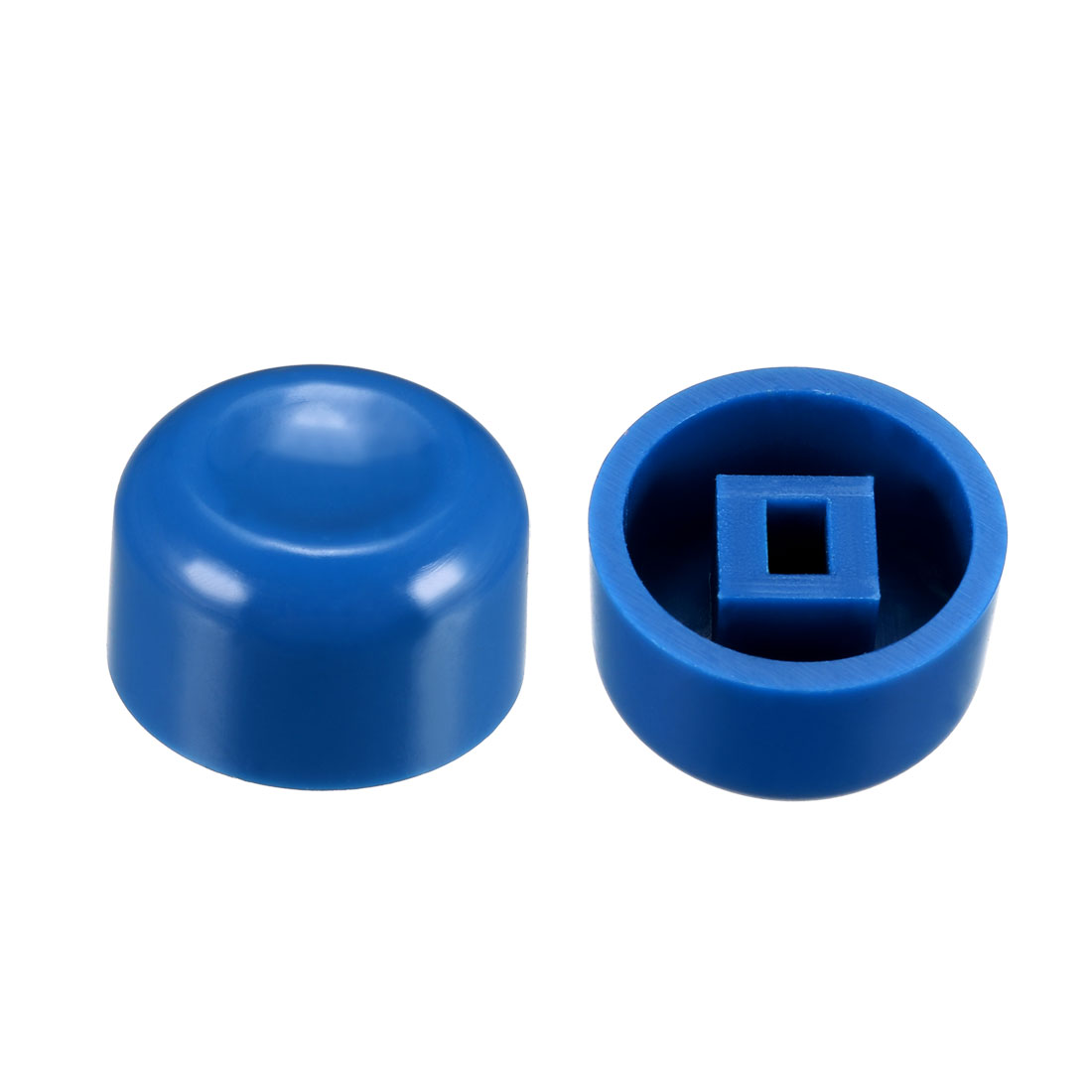 40Pcs Plastic 13.2x7.7mm Latching Pushbutton Tactile Switch Caps Cover Blue
