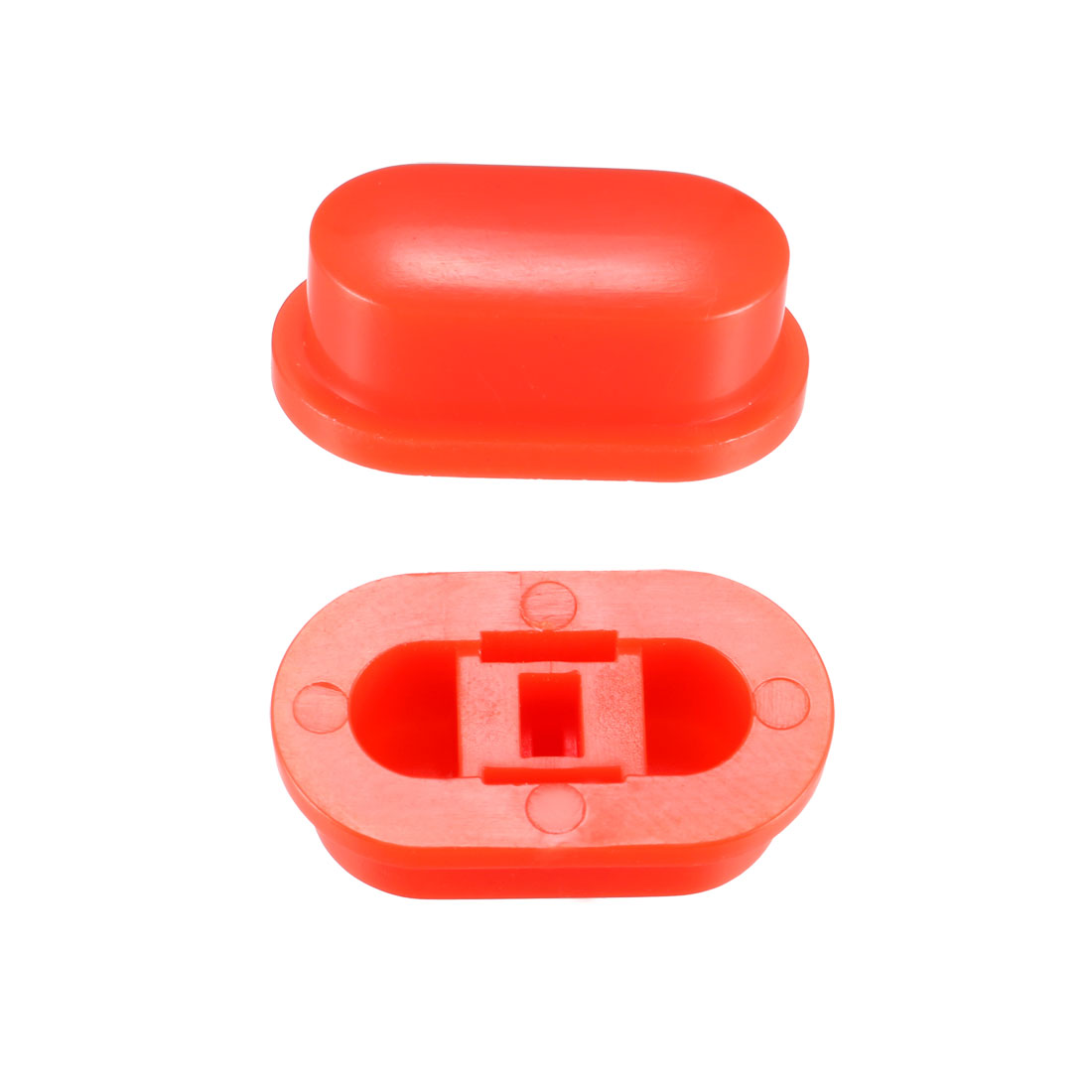 25Pcs Plastic 18x10x7mm Latching Pushbutton Tactile Switch Caps Cover Red