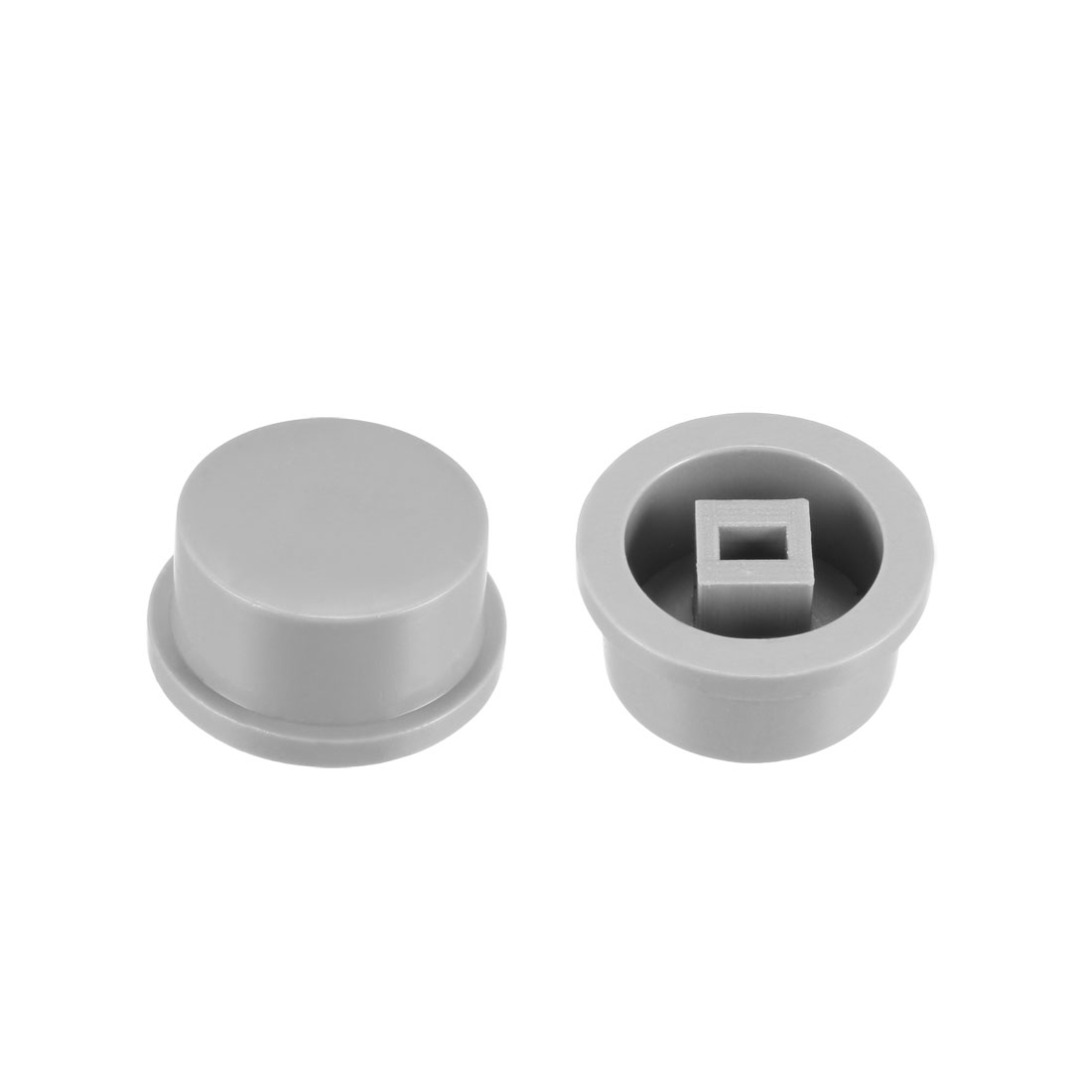 25Pcs Plastic 13.5x7.5mm Latching Pushbutton Tactile Switch Caps Cover Grey