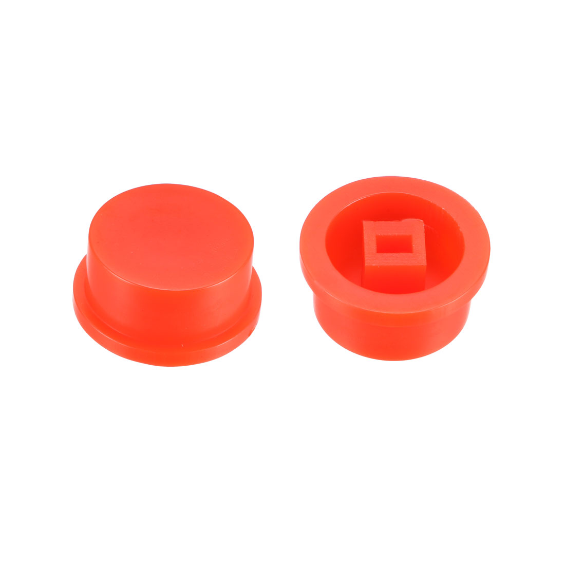 25Pcs Plastic 13.5x7.5mm Latching Pushbutton Tactile Switch Caps Cover Red