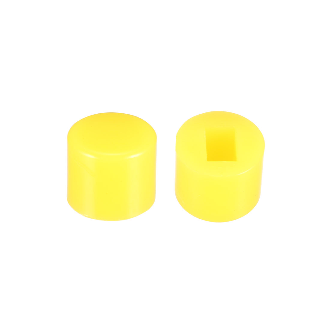 40Pcs Plastic 6x5mm Latching Pushbutton Tactile Switch Caps Cover Keycaps Yellow