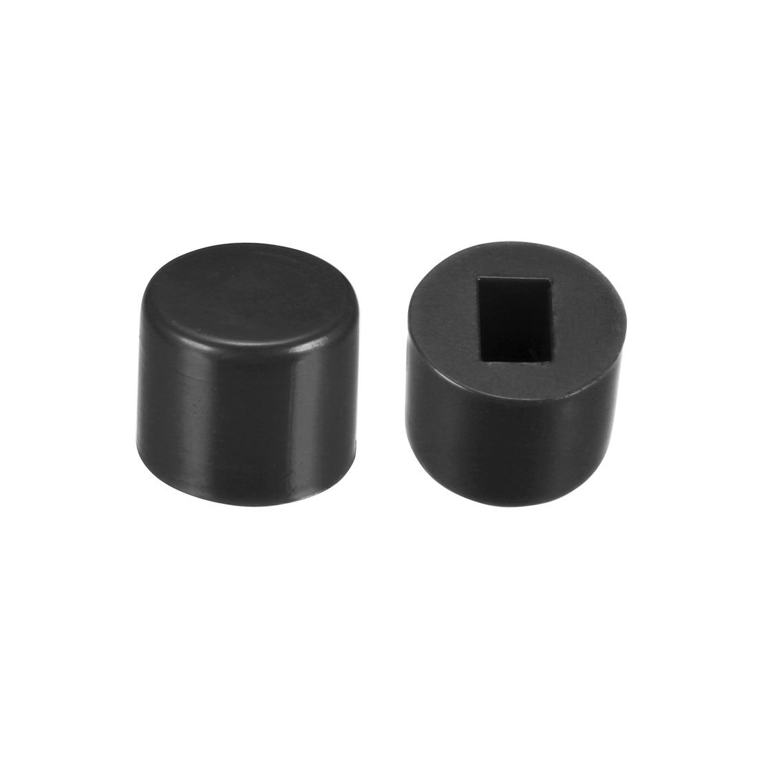 40Pcs Plastic 6x5mm Latching Pushbutton Tactile Switch Caps Cover Keycaps Black