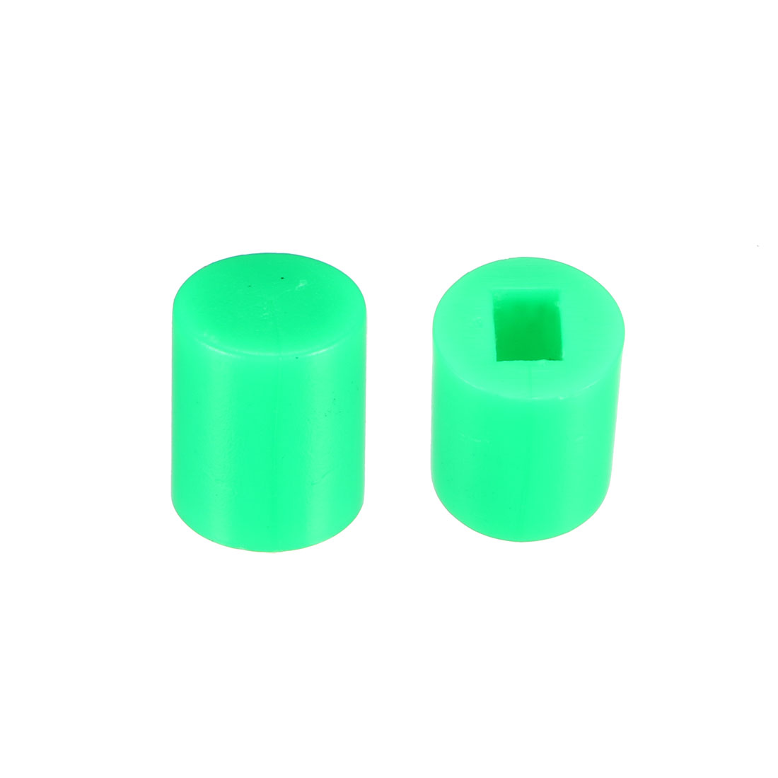 40Pcs Plastic 6x7mm Latching Pushbutton Tactile Switch Caps Cover Keycaps Green