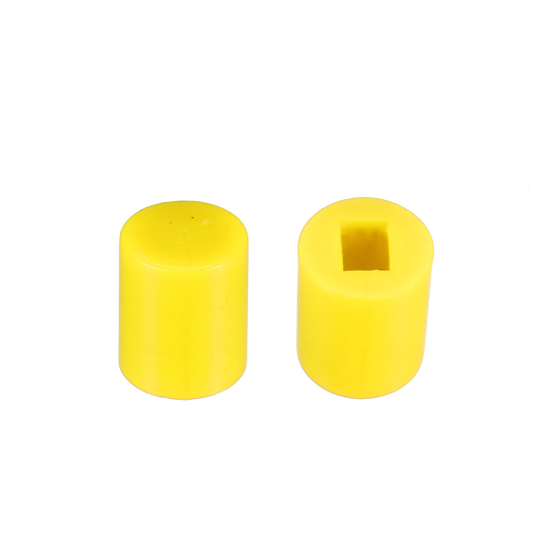 40Pcs Plastic 6x7mm Latching Pushbutton Tactile Switch Caps Cover Keycaps Yellow
