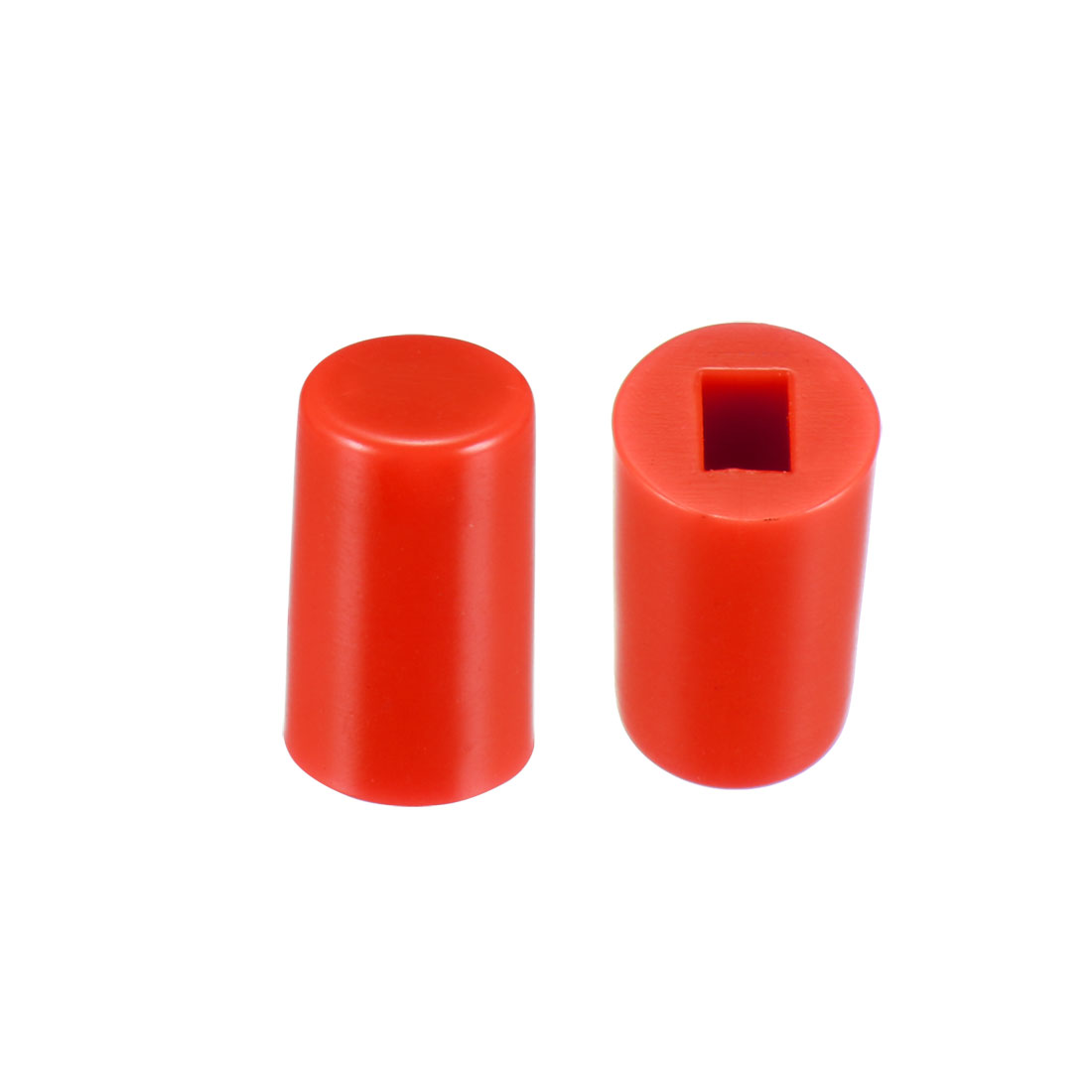 40Pcs Plastic 6x10mm Latching Pushbutton Tactile Switch Caps Cover Keycaps Red