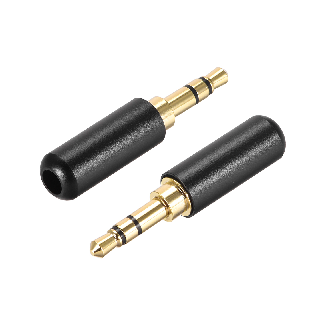 3.5mm Stereo Male Jack Solder Connector Audio Video Cable Power Adapter 2pcs