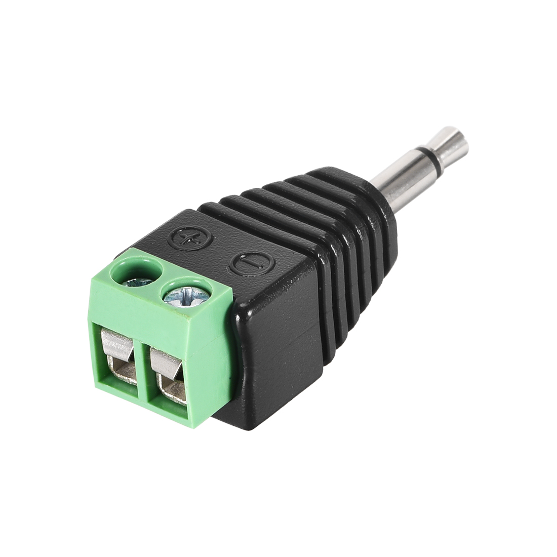 RCA Male to AV Screw Terminal Audio Video Connector Adapter Green 1Pcs
