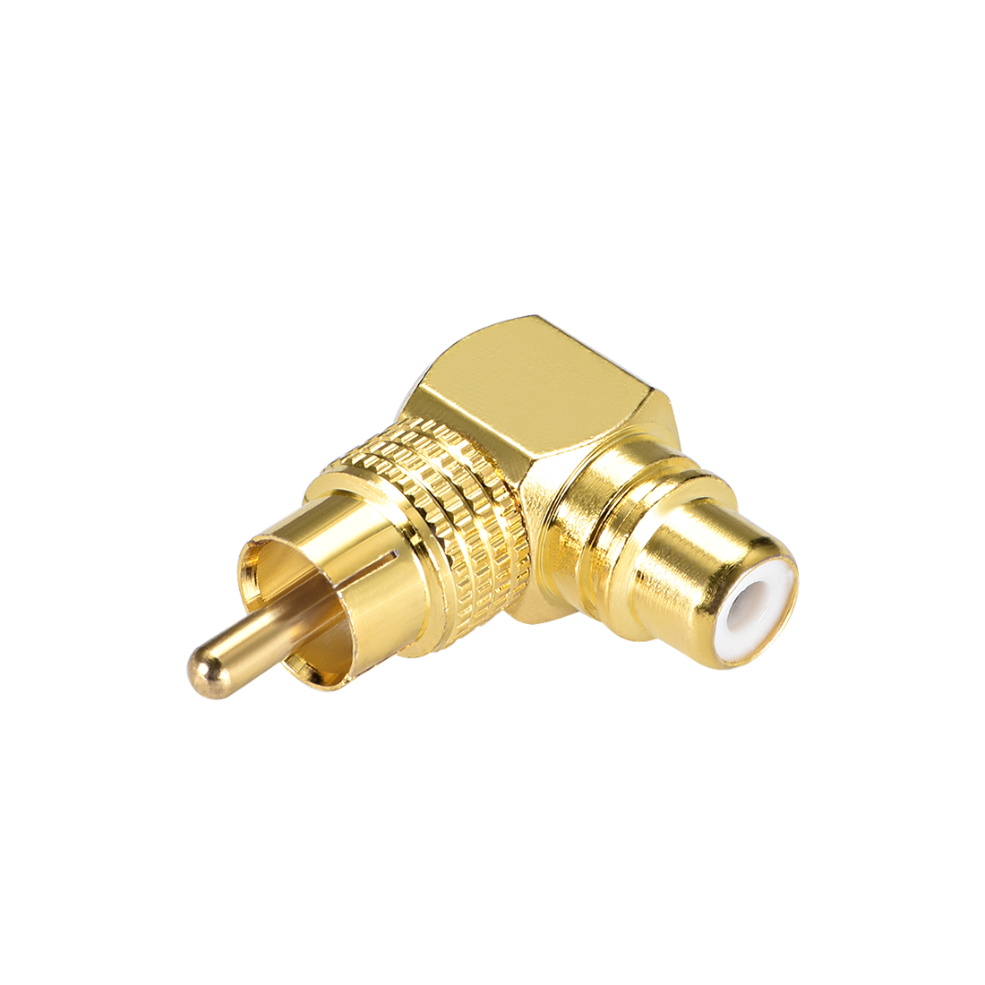 RCA Male to Female 90 Degree Connector Stereo Audio Video Cable Adapter Coupler