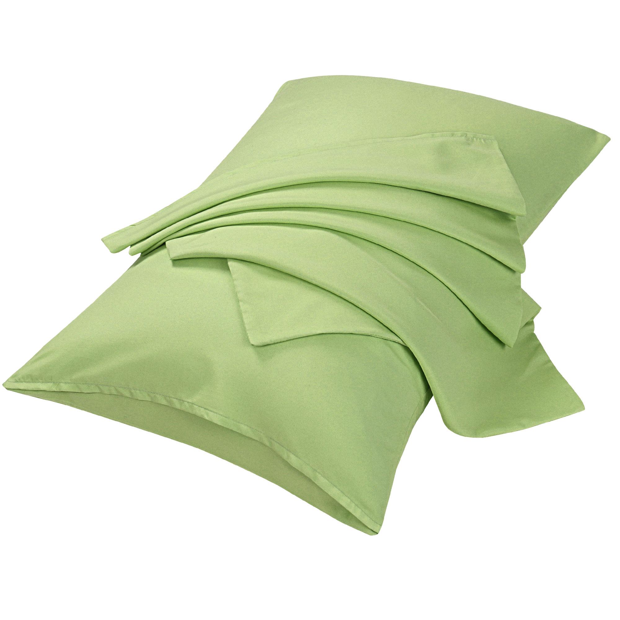 "2pcs Pillowcases Soft Microfiber, No Wrinkle, Sage Standard (20"" x 26"")"