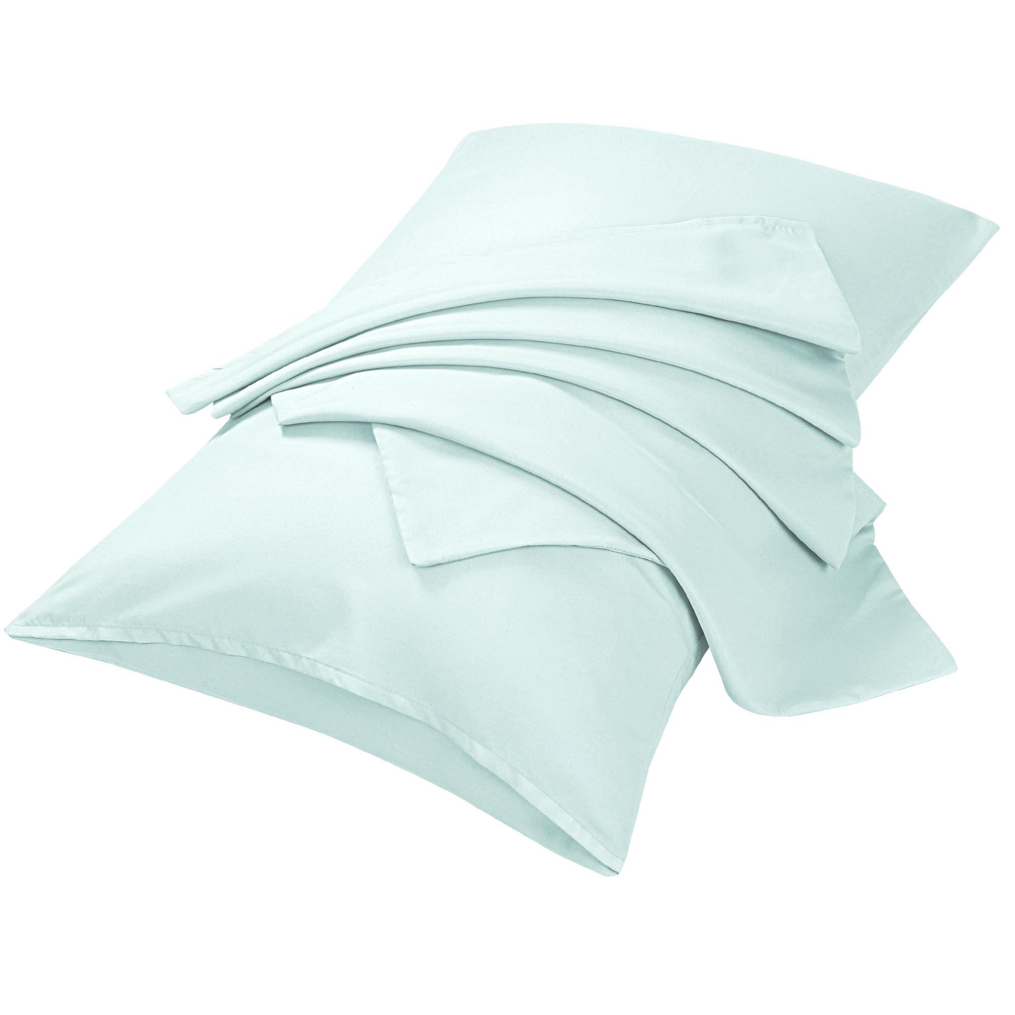 "2pcs Pillowcases Soft Microfiber, No Wrinkle, Light Gray Queen (20"" x 30"")"