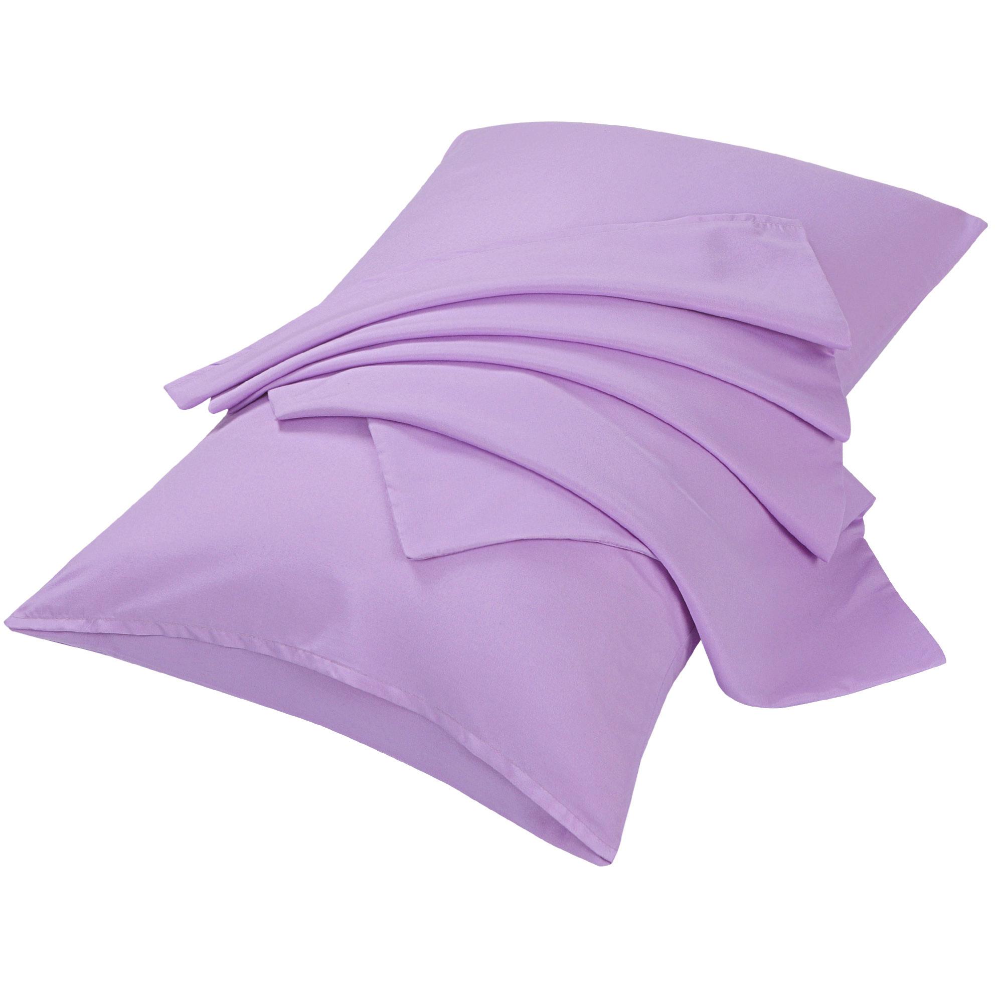 "2pcs Pillowcases Soft Microfiber, No Wrinkle, Light Purple Queen (20"" x 30"")"