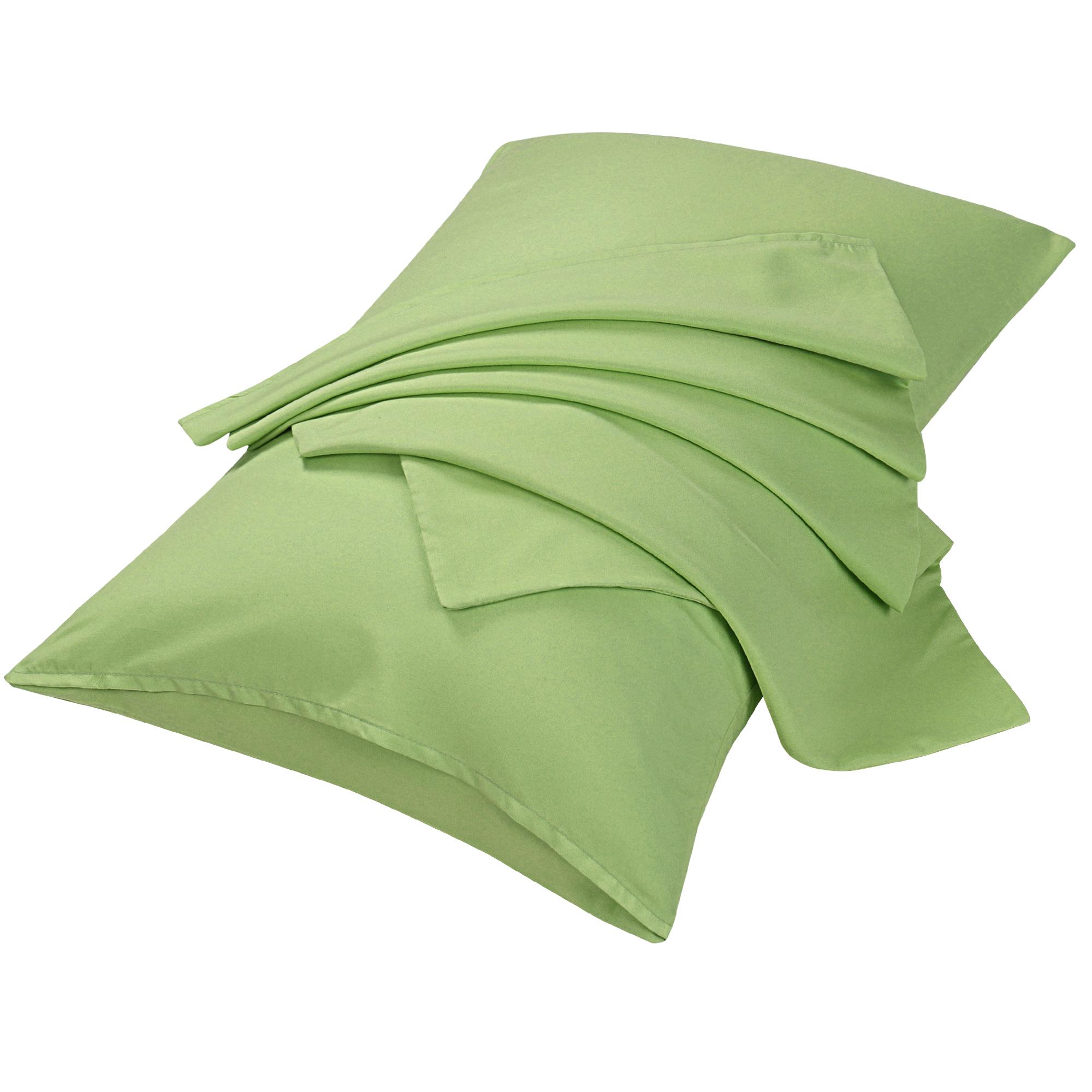 "2pcs Pillowcases Soft Microfiber, No Wrinkle, Sage Queen (20"" x 30"")"