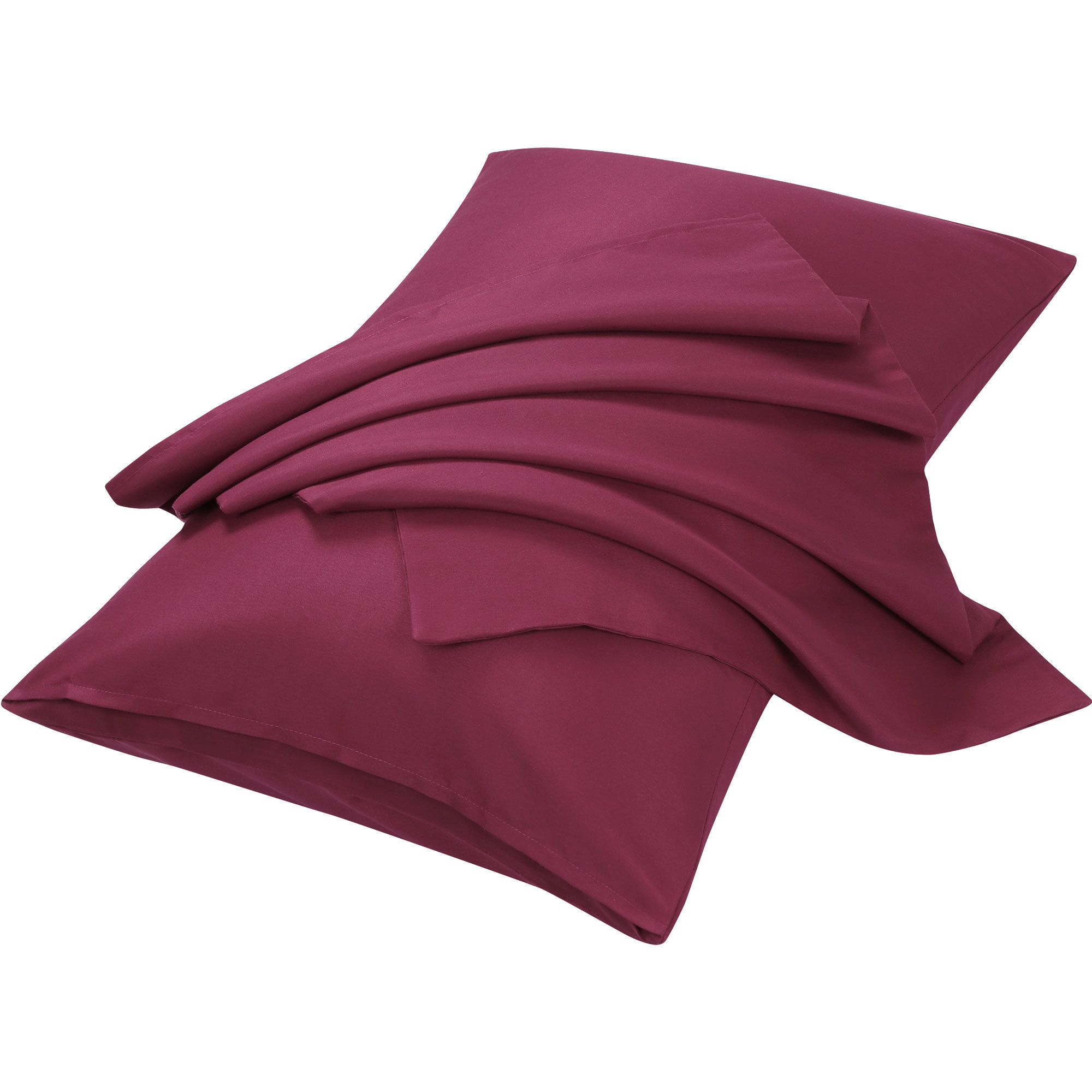 "2pcs Pillowcases Soft Microfiber, No Wrinkle, Wine King (20"" x 36"")"