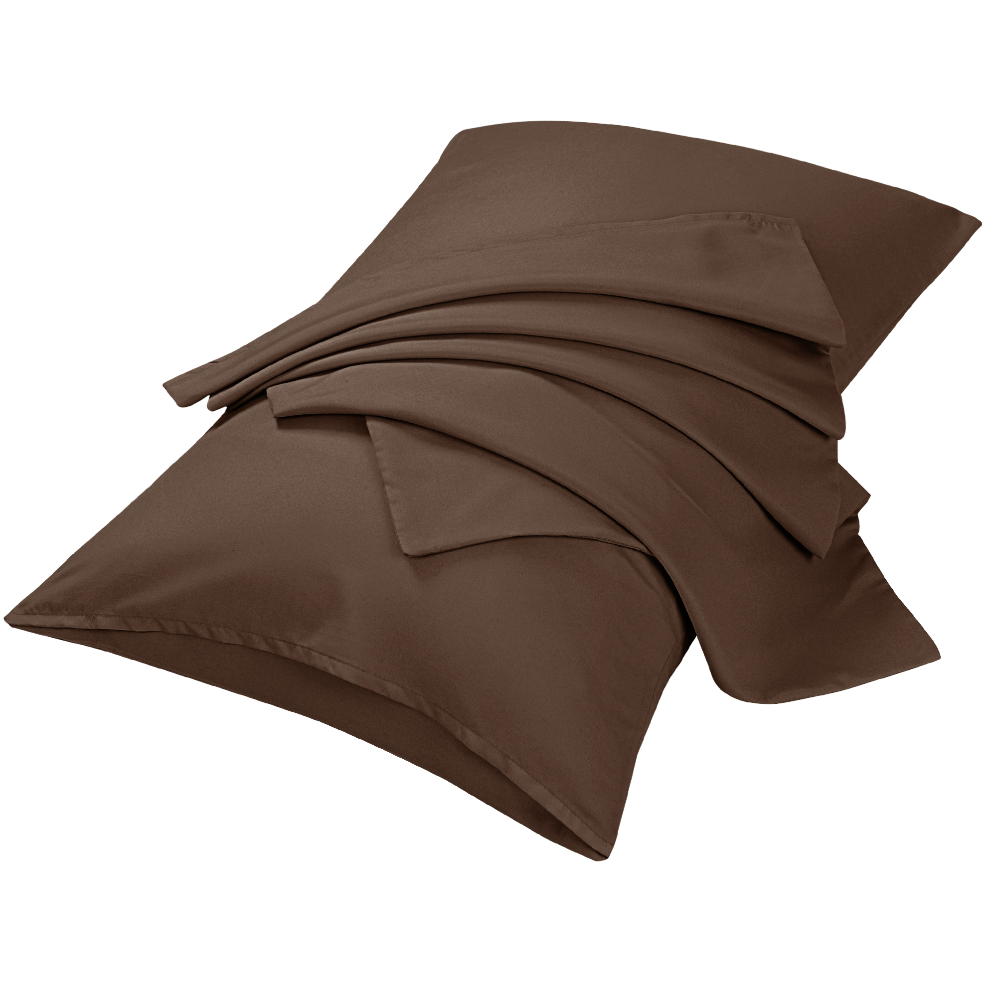 "2pcs Pillowcases Soft Microfiber, No Wrinkle, Brown Travel (14"" x 20"")"