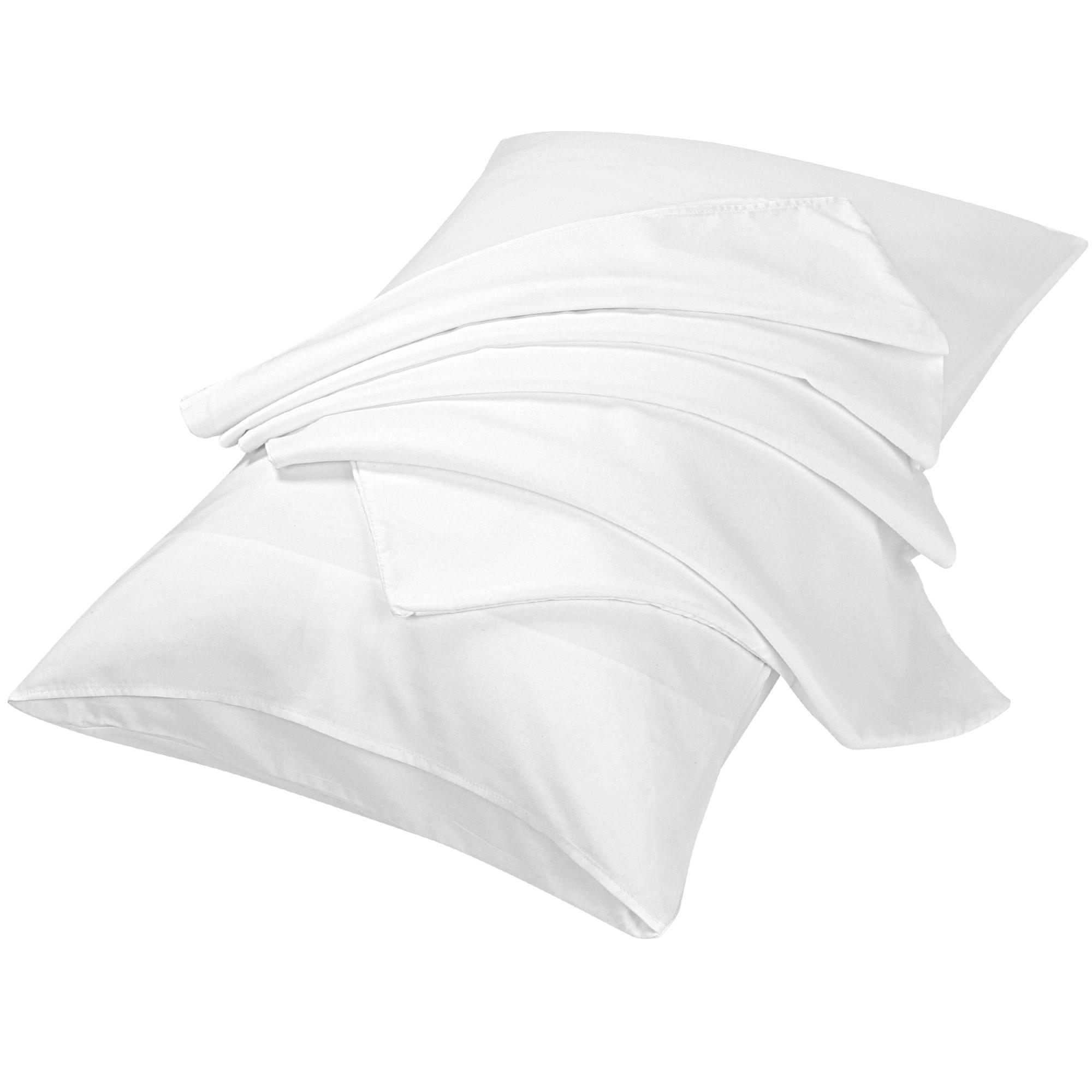 "2pcs Pillowcases Soft Microfiber, No Wrinkle, White Travel (14"" x 20"")"