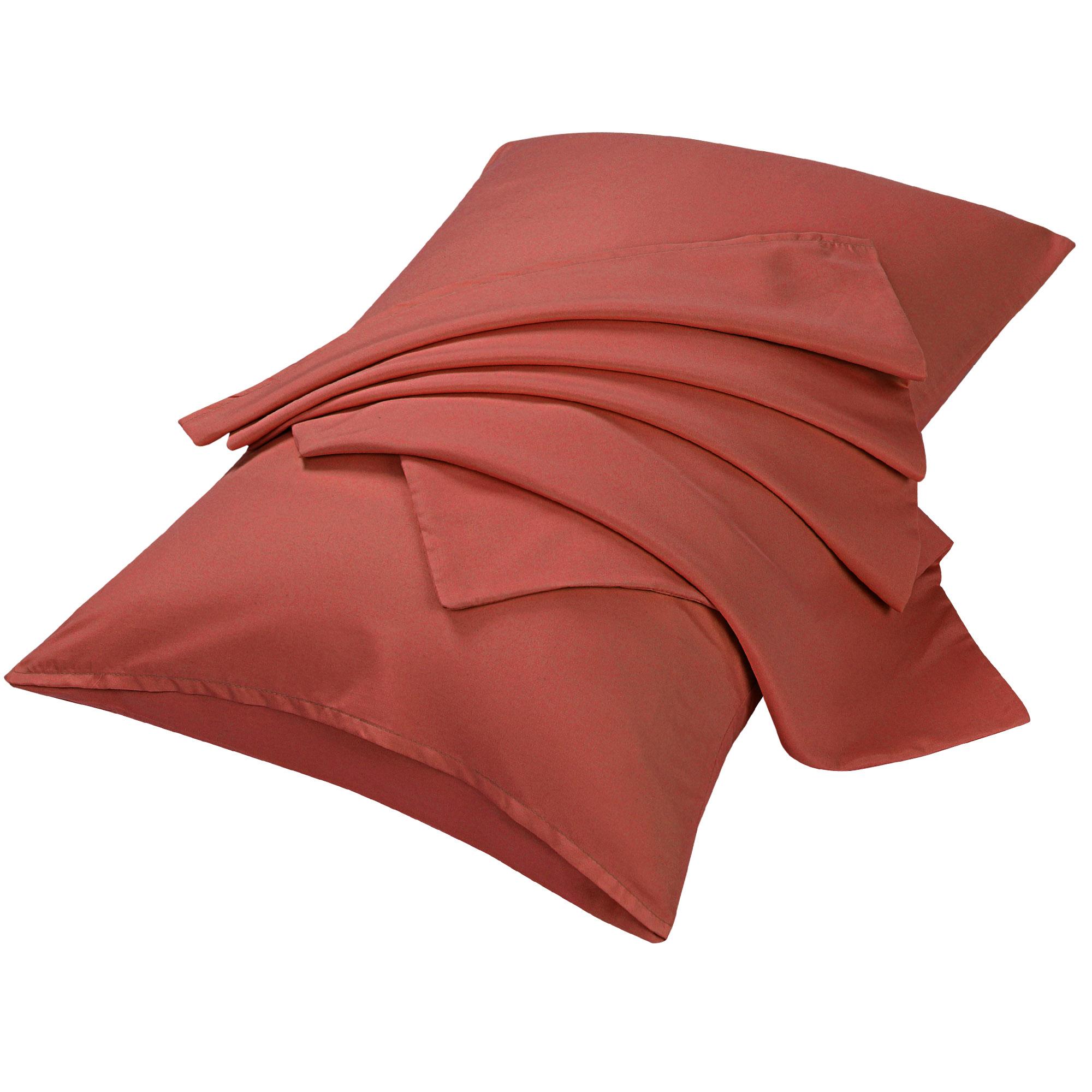 "2pcs Pillowcases Soft Microfiber, No Wrinkle, Orange Travel (14"" x 20"")"