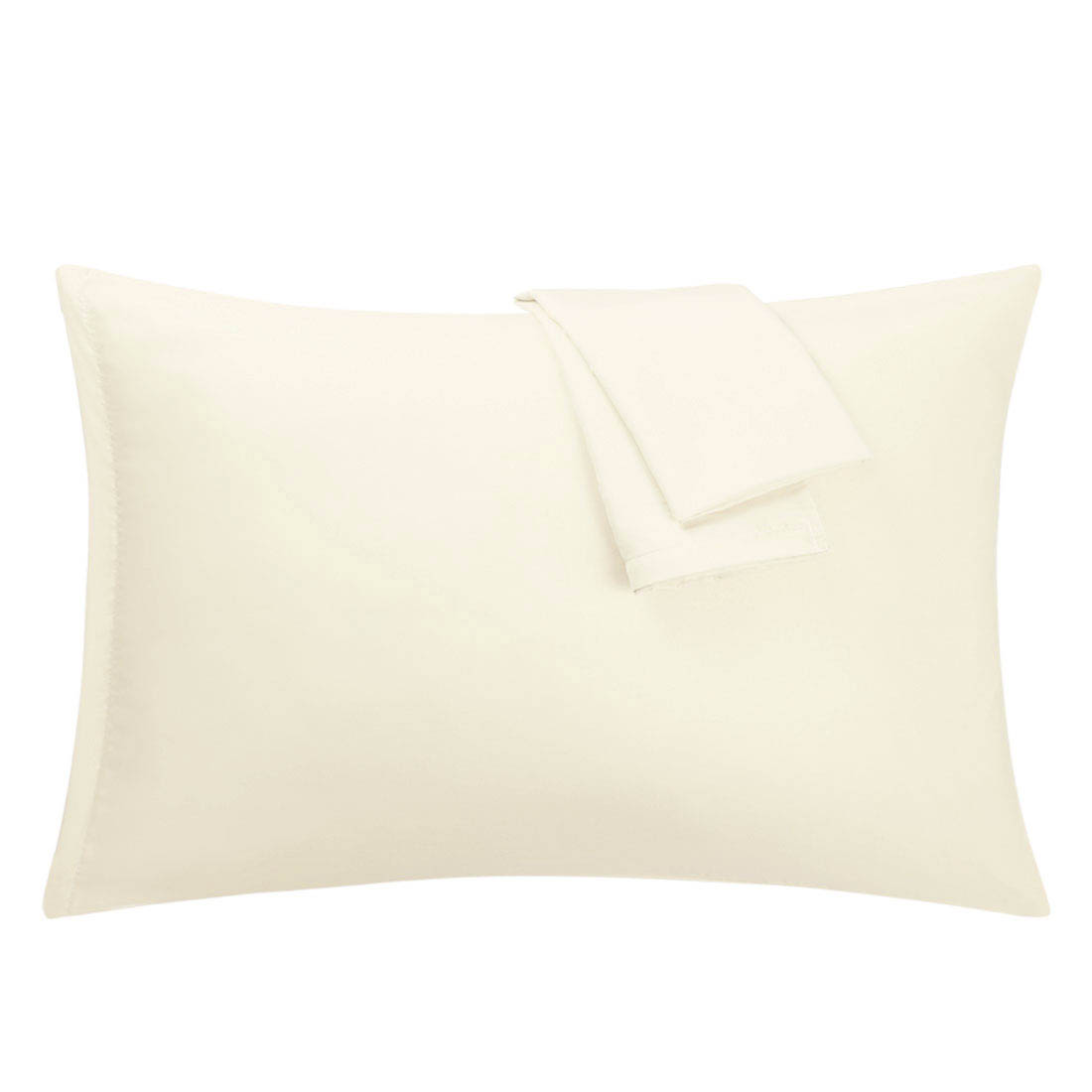 Cream Pillowcases Soft Microfiber Pillow Case Cover with Zipper Travel, 2pcs