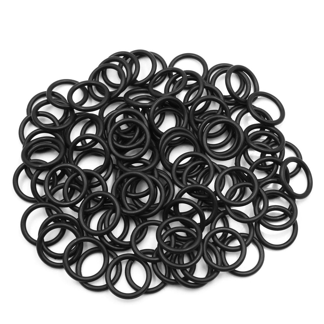 100pcs Black Universal Nitrile Rubber O-Ring Seals Gasket for Car 21.2 x 3.55mm